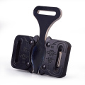 25mm Heavy Duty 300KG Metal Three Side Adjustable Cobra Belt Buckle With Black Electrophoresis