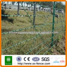 Alambre de púas de cerca de malla de alambre