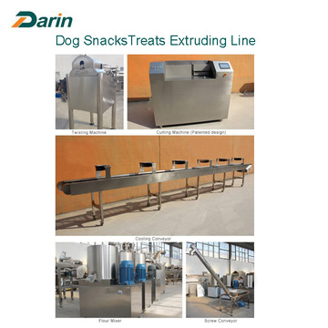 Twin Screw Multi-bentuk Dog Snacks Extruding Machine