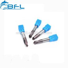 Broca de flauta BFL 3 para cobre, brocas de carburo para acero endurecido