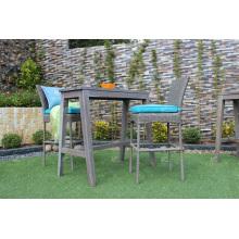 2017 Brand Líder PE Rattan Bar Set para muebles de mimbre de jardín al aire libre