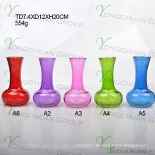 Günstige Farbe Nizza Glas Vasen, für einen Dollar Shop Classic Glas Vase für günstigen Preis