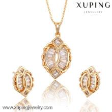 62299 / 63638Xuping Moda Mujer Jewlery Set con 18 quilates chapado en oro