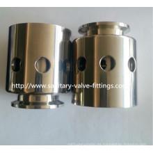 Válvulas de vacío de presión de tanque de acero inoxidable sanitarias