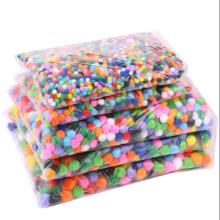 Factory sale Cheap different size diy craft pompoms,colorful pompoms for wedding