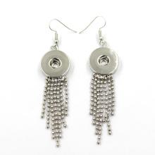 Nuevo diseño de plata de moda joyería DIY Snap botón pendiente