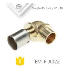 EM-F-A022 Conector rápido accesorio de tubería de codo de latón para manguera de agua