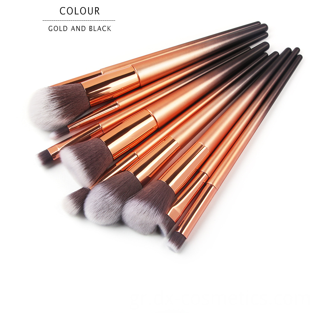 10 Pcs Graduated Color Makeup Brushes 6