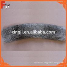 Chaqueta de cuero Collar de piel de conejo