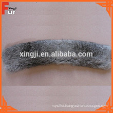 Leather Jacket Rabbit Fur Collar