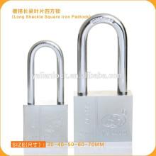 China Suppliers!!!Hardene Chrome Plated Long Shackle Square Iron Vane Key Padlock