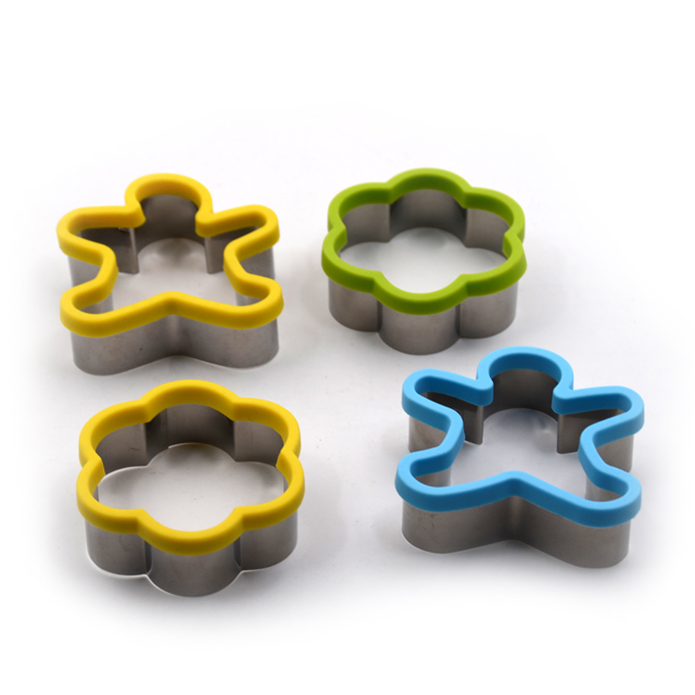 Stainless Steel Cookie Cutter with Silicon Edge