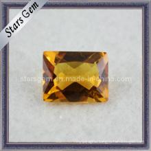 Beautiful Rectangle Shape Semi Previous Stone Citrine