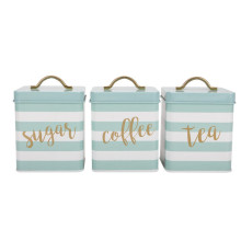 Tea Sugar Coffee Canister Set 3 Cocina