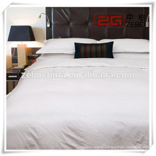 100% Cotton Strip King Size 3D Bedding Set for hospital or Hotel