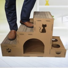 Cat Carton Box Cardboard Cat House