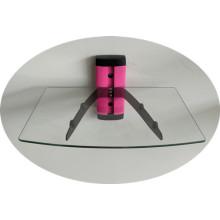 Support de verre DVD / tube rose avec verre transparent