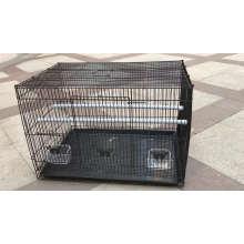 Cage pliable d'animal familier de cage d'oiseau en métal de fil d'acier en métal pour Throstle