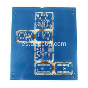 Máscara de soldadura azul 6layers Rigid Flex PCB Board