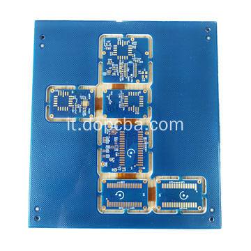 Scheda rigida per PCB rigida Flex Blue Mask 6layers