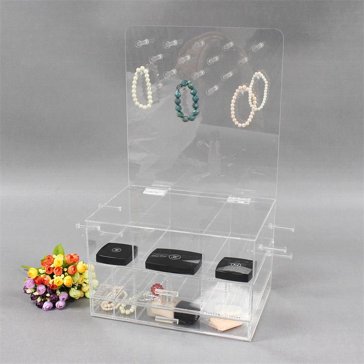 Clear Acrylic Jewelry And Makeup Organizer