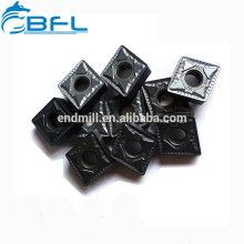 Insertos de torneado de carburo sólido de tungsteno BFL que procesan acero inoxidable