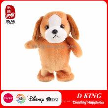 Los juguetes suaves rellenos electrónicos lindos del peluche del perro de la felpa pueden modificar para requisitos particulares