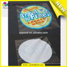 Venda quente adesivo decorativo semi transparente