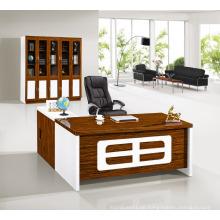 Moderne antike Luxus Holz Hochglanz weiß Manager Büro Schreibtisch