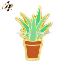 Chine épinglette fabricant personnalisé Aloe Plant Pin avec émail