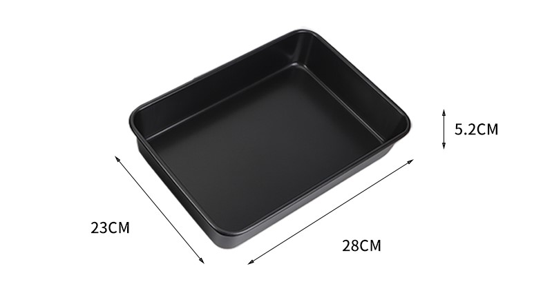 "11""rectangular carbon steel cake pan-black 01"