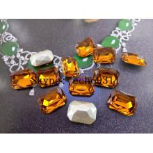 13*18mm Octagon Rhinestones Point Back Jewelry Stones