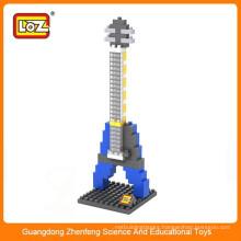 kids educational toys loz diamond block diy electric guitar kits
