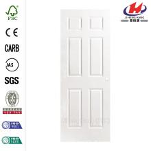 30 in. X 80 in. Strukturierte 6-Panel Hohlkern-Grundierung Composite Innen-Tür-Platte mit Bohrung