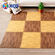 High quality rubber material wooden pattern floor mat BPA free