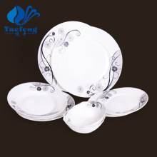 Heat Resistant Opal Glassware-24PCS Press Dinner Set