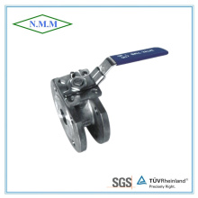 Stainless Steel Reduced Bore, 1PC Wafer Flange Ball Valve with ISO5211 Pn16