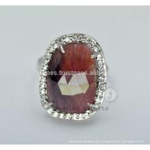 Diseñador semi preciosa boda s925 anillos de plata para la venta al por mayor