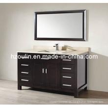Mueble de baño de madera superior de mármol expreso (BA-1125)