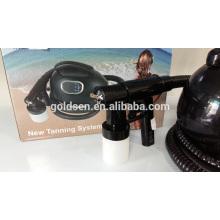 Indoor Mini Skin Tanning cama sistema de máquina Handheld HVLP pulverizador Tan Gun Portátil interior Professional Body Tanning Spray