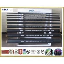 Tubo de acero negro acanalado 21mm - 219mm a AS, BS, JIS, DIN, ASTM, ERW tubería de acero, tuberías de acero soldadas, tubos de acero galvanizado