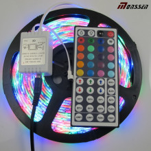 RGB impermeable DC12 / 24V tira flexible del LED 3528 con CE y RoHS aprobado