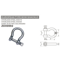 Hardware Stainless Steel European Type Bow Shackle