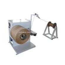 Paper rope rewinding machine