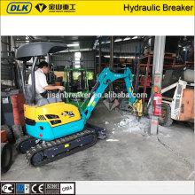 JSB30 hydraulique système équipement de construction brise-béton machine pour mini-pelle