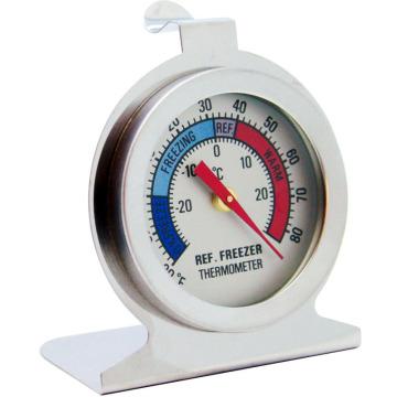 Thermomètre de réfrigérateur bimétallique en acier inoxydable