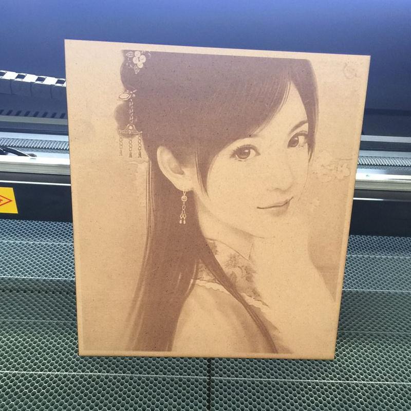 wood laser printing