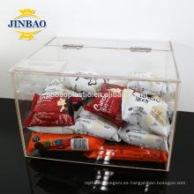 Caja de acrílico transparente Jinbao tamaño personalizado de almacenamiento de 2 mm 3 mm