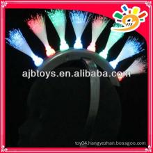 8 lights flashing toys fiber optic hairpin