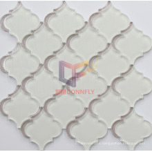 Super White Color Water Jet Crystal Mosaic Tile (CFW59)